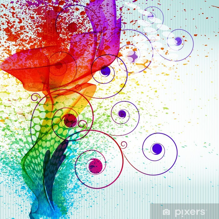 Plakat Plamy koloru farby. wektor tle gradientu - Tła
