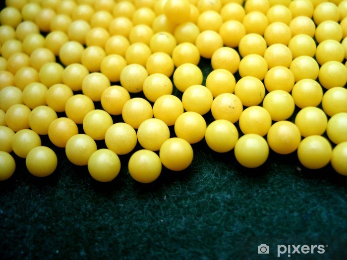 Naklejka Pixerstick Żółte kulki - Gry