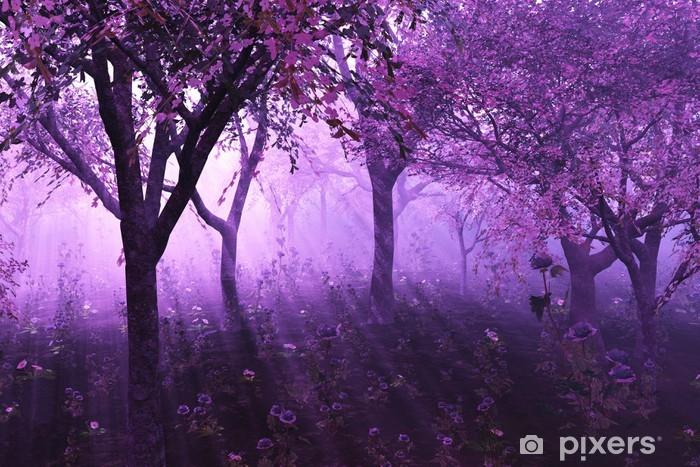 Lavender Forest - 3d render Vinyl Wall Mural -