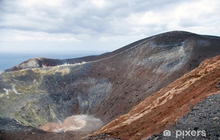 Fototapeta winylowa Wielki krater Vulcano, Lipari, Sycylia, Włochy - Góry