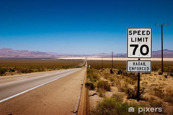 Desert Highway To Horizon Wall Mural • Pixers® • We Live