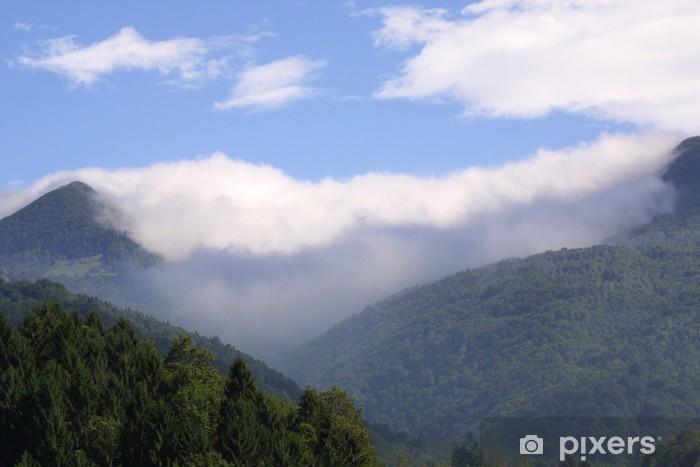 Fototapeta winylowa Mgiełka - Góry