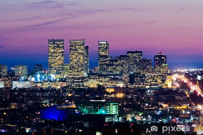 Papier peint vinyle Horizon de Los Angeles au crépuscule. voir de la ville siècle - Thèmes