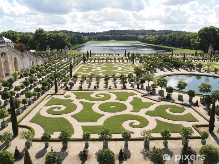 Fotobehang Decoratieve Tuinen Van Versailles In Frankrijk Pixers