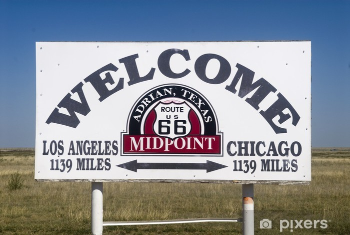 Vinyl Fotobehang Halverwege langs Route 66 - Thema's