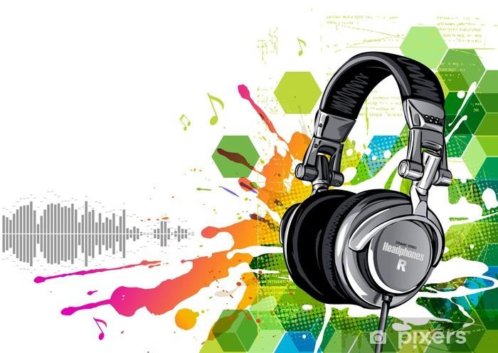 Headphones Vinyl Wall Mural - Destinations