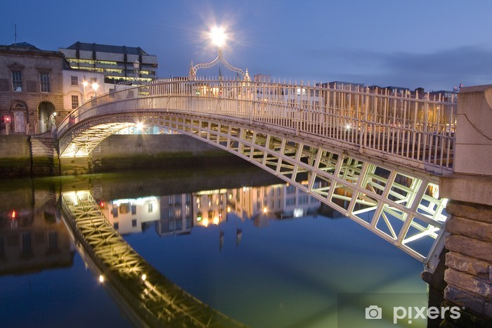 Fotomural Lavable Puente del medio penique - dublin - irlande - Urbano