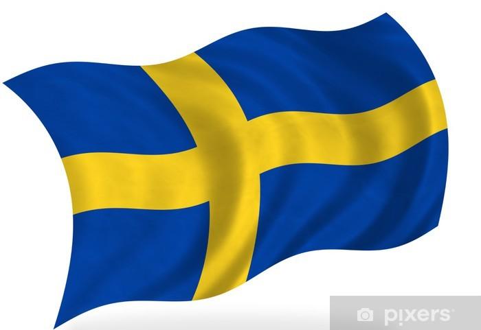 aufkleber schweden flagge pixers wir leben um zu. Black Bedroom Furniture Sets. Home Design Ideas