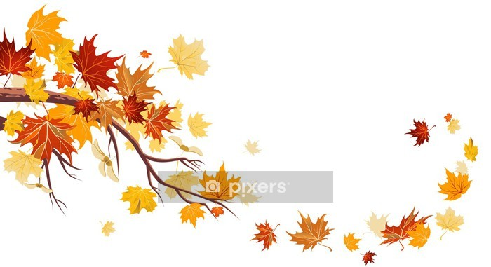 Maple leaves Wall Decal - Wall decals