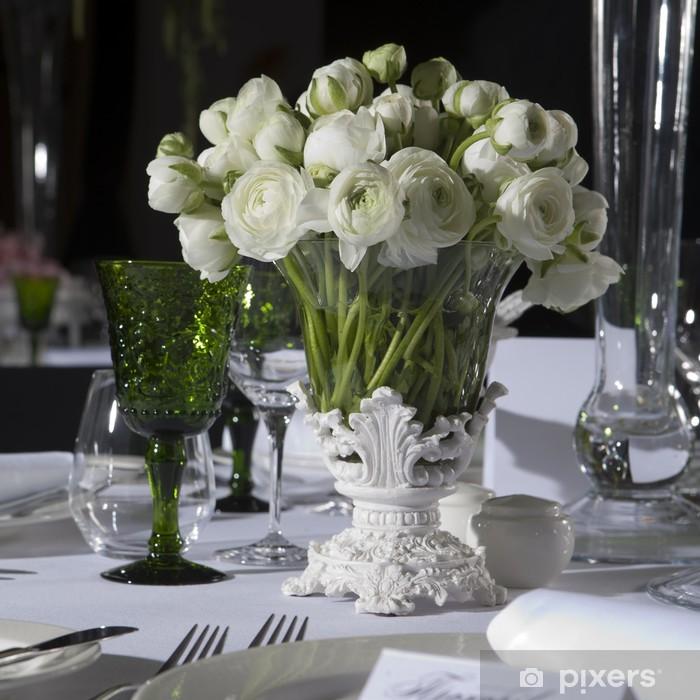 Fototapete Dekoration Hochzeit Tisch