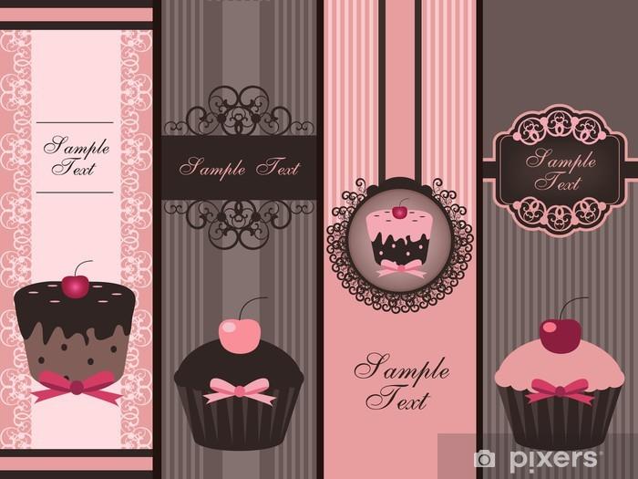 cupcake banners Pixerstick Sticker - Meals