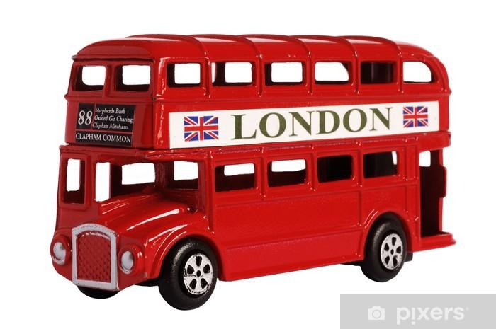 Vinyl Fotobehang Londen bus - Onderweg
