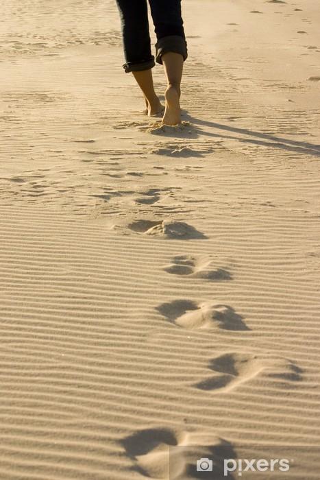Vinyl Fotobehang Footprints - iStaging