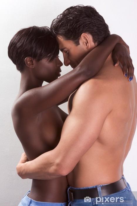 Couple Nu papier peint homme jeune couple nu et femme dans l'amour embrassant