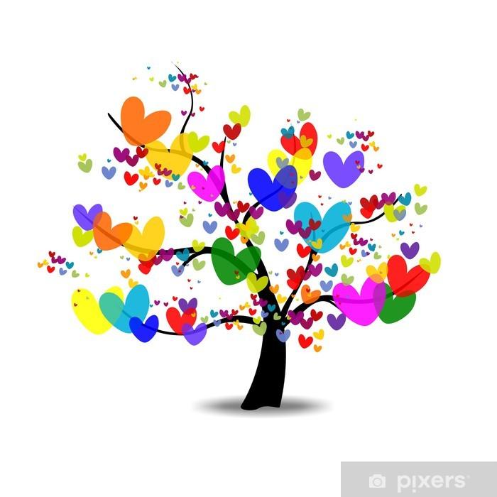 b1c9e8d2e55c ARBOL DEL AMOR ARBOL DE LA VIDA Wall Mural • Pixers® • We live to change