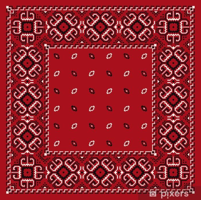 Papier peint vinyle Bandana rouge - Mode