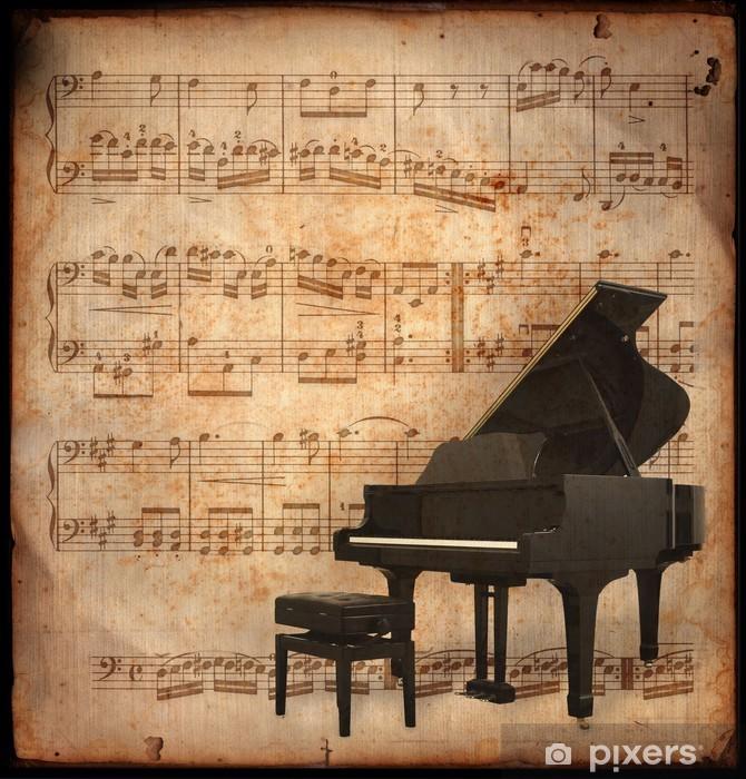 Papier peint vinyle Piano antique - Musique