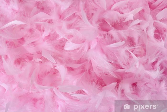 Naklejka Pixerstick Małe różowe pióra w stos   texture - Tematy