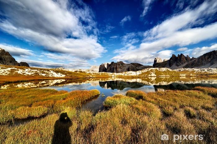 Fototapete Alpen, Dolomiten, Berge, Seen Der Pläne, Sixth