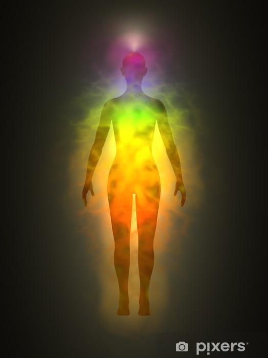 Naklejka Pixerstick Ciało ludzkie energia, aura, czakry, energia - Zdrowie
