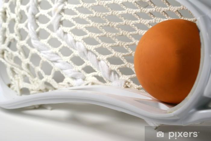Vinilo Pixerstick Macro la cabeza de lacrosse - Artículos de deporte