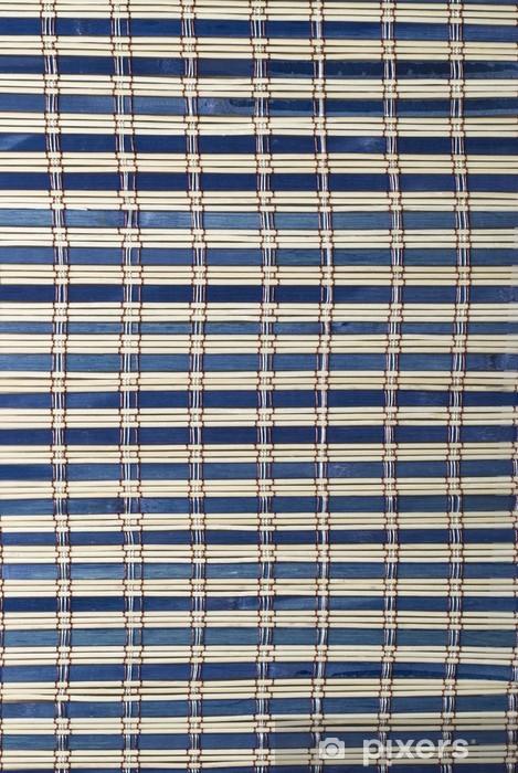 Pixerstick Aufkleber Textur von einem blauen Bambusmatte. - Geschäfte
