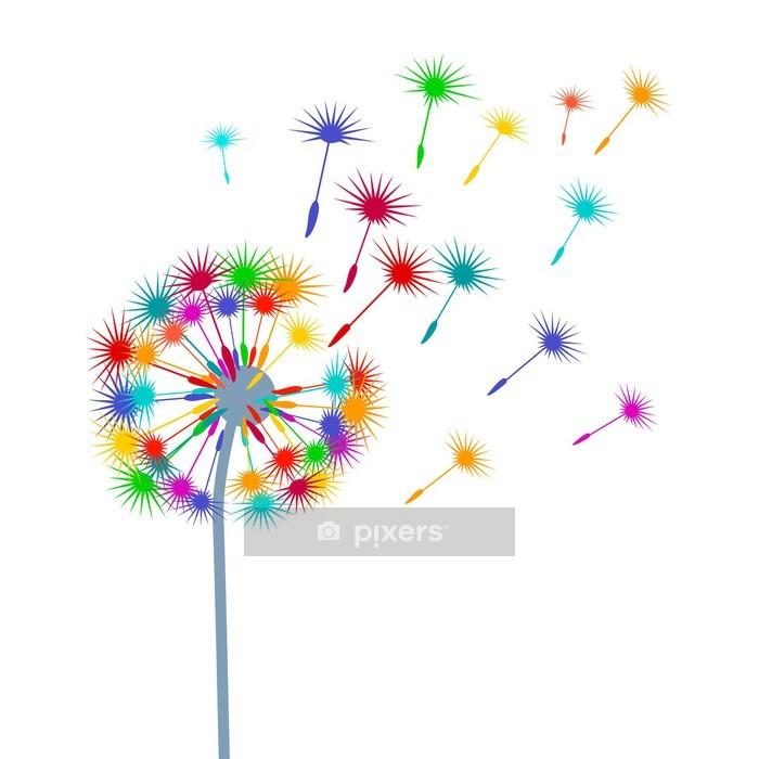 Muursticker Kleurrijke Dandelion - Thema's