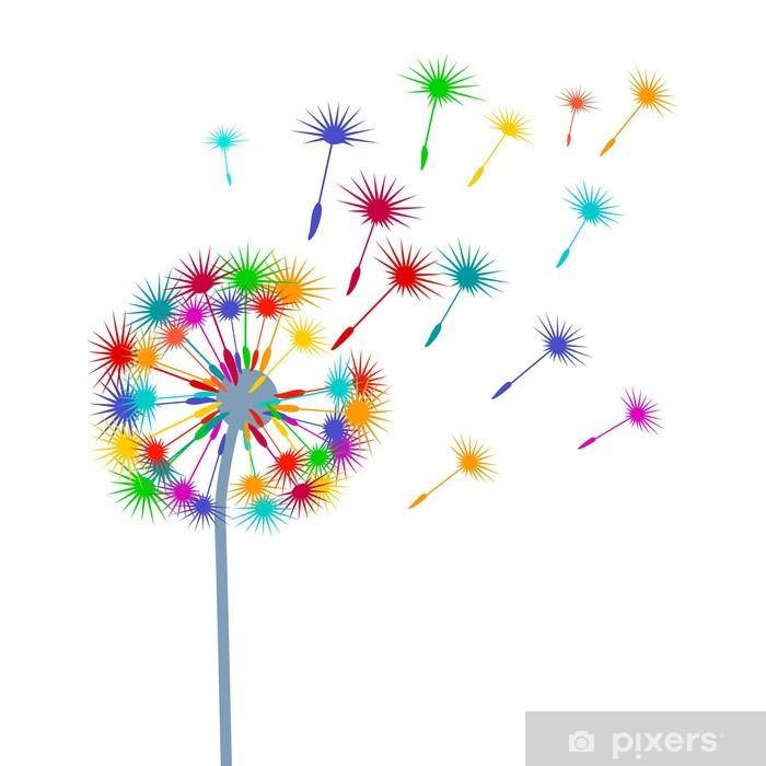 Pixerstick Aufkleber Bunte-Pusteblume - Themen