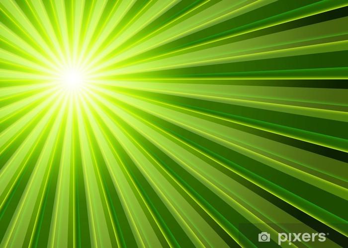 Fotomural Estándar Fondo - rayos de luz verde Negro - Fondos