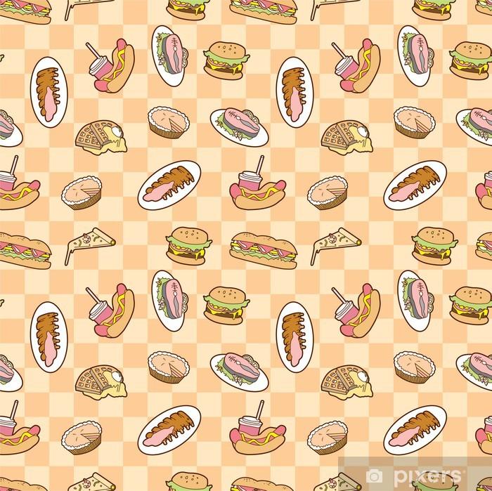 Poster Essen nahtlose Muster - Hintergründe
