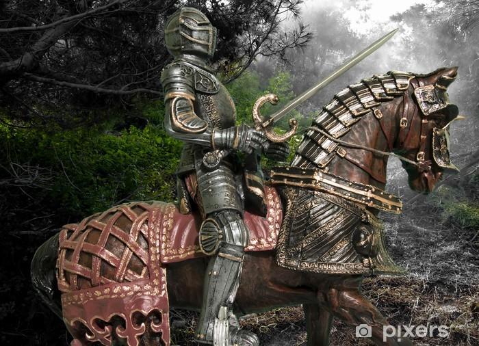 Fototapeta winylowa Rycerz na koniu - Rycerze