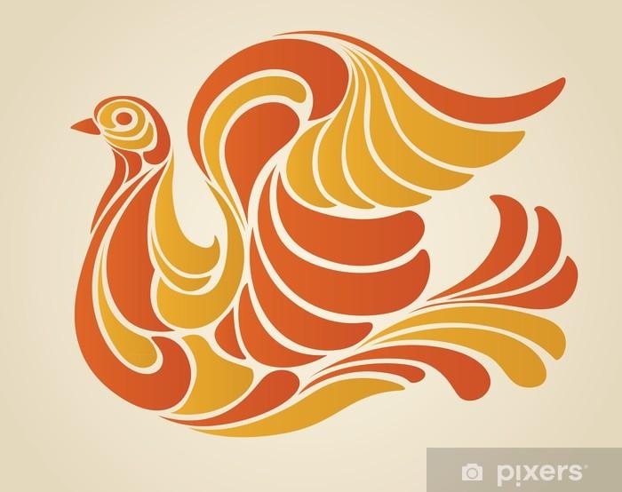 Papier peint vinyle Hippy Illustration Vecteur Dove - Art et création