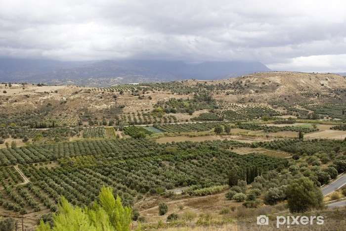 Nálepka Pixerstick Krajina Messara údolí se nachází v jihozápadní části - Evropa