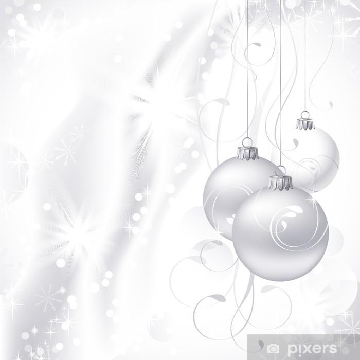White Christmas Background.White Christmas Background Sticker Pixerstick