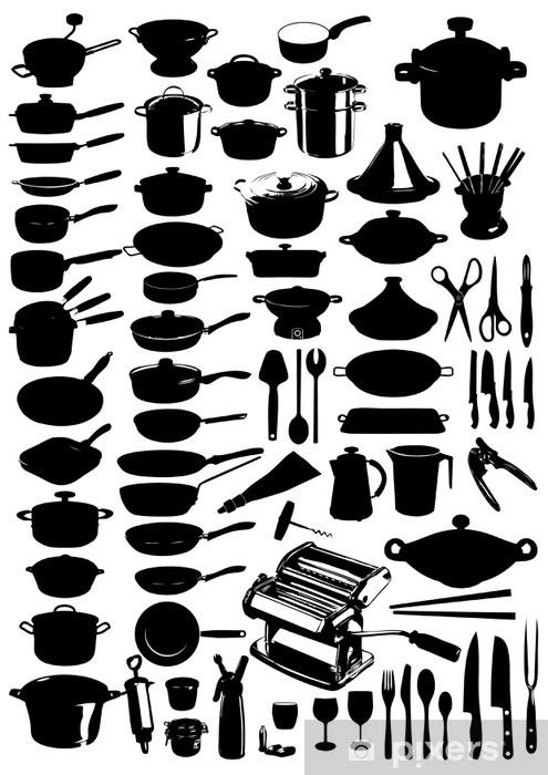 70 Ustensiles De Cuisine Pixerstick Sticker   Meals