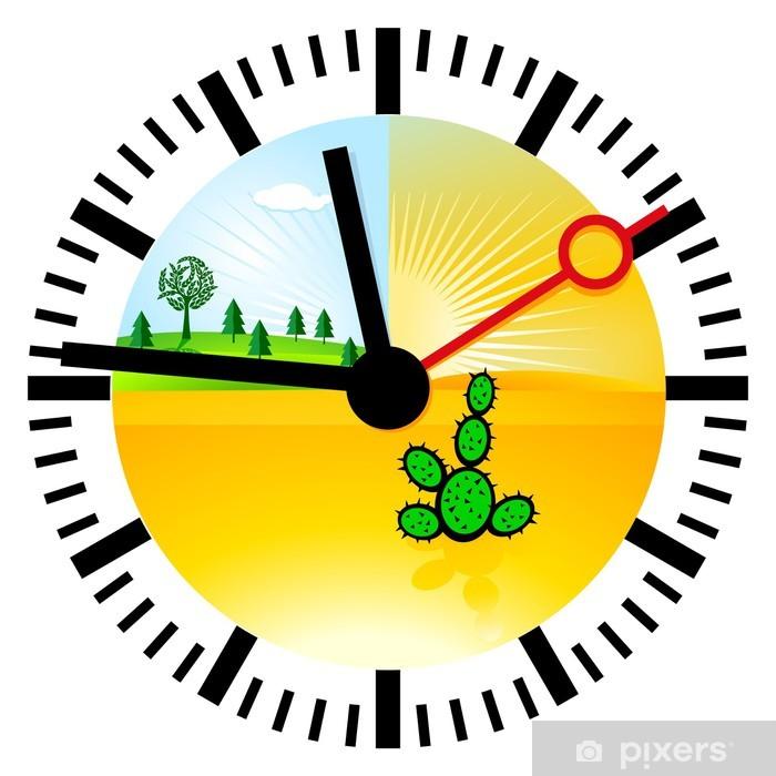 Sticker Pixerstick Klima-Uhr - Ecologie