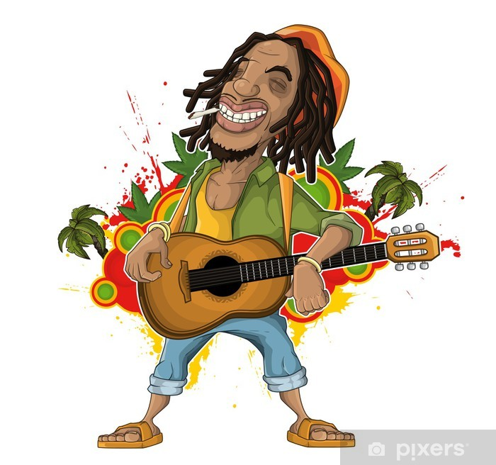 Fototapeta winylowa Reggae Artist - Dom i ogród