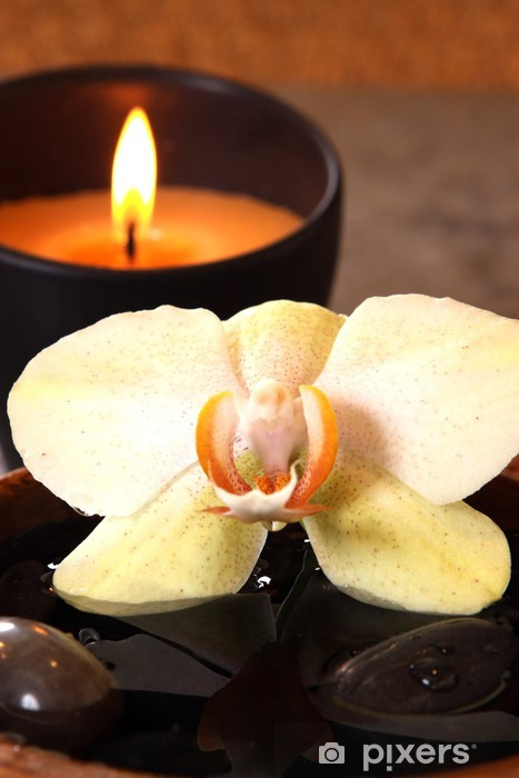 Pixerstick Sticker De flamma en orchidee - Bestemmingen