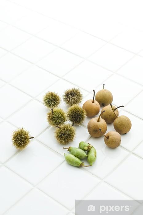 Vinyl-Fototapete 秋 の 山 菜 - Früchte