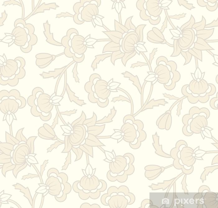 Poster Motif de papier peint transparente avec des éléments floraux. - Arrière plans
