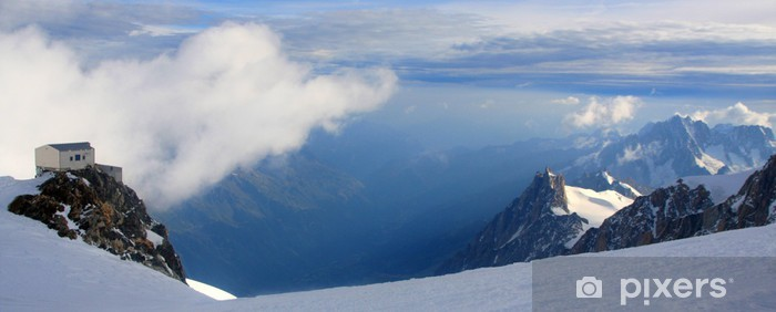 Papier peint vinyle 4400 m d'attitude du Mont-Blanc - Ciel