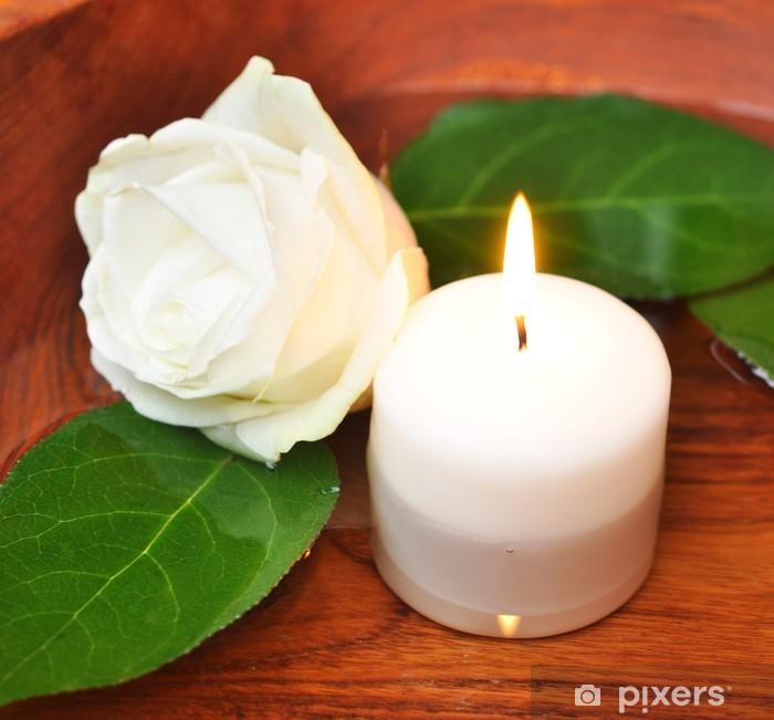 Sticker Pixerstick Fleur, bougie - Maisons et jardins