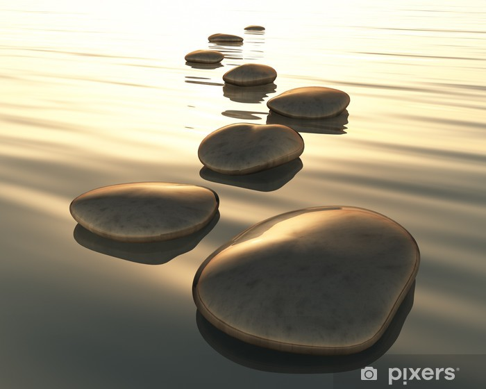 step stones Vinyl Wall Mural - Themes