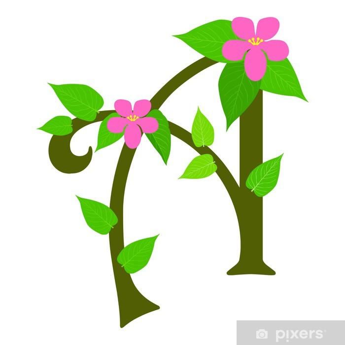Sticker Type planten lettertype, letter A - Pixerstick