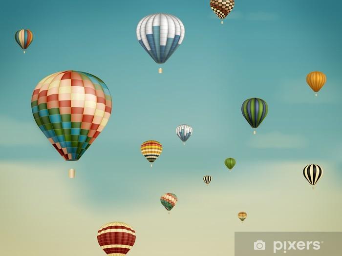 Sticker Pixerstick Ballons à air chaud dans le rêve - Styles