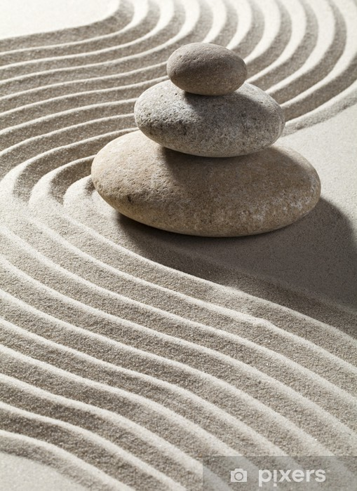 Kaststicker Zen zand wave en drie rollen - Bestemmingen