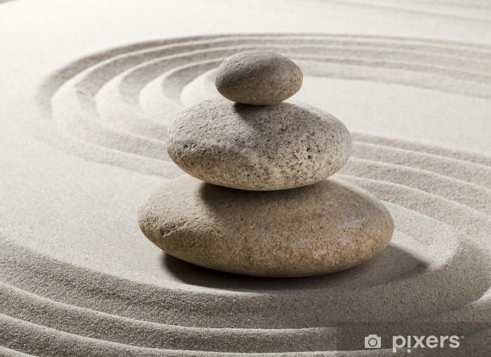 jardin zen avec sable et galets Pixerstick Sticker - Destinations
