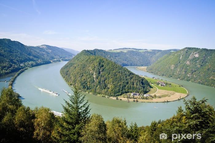 Curve of Danube River Pixerstick Sticker - Europe