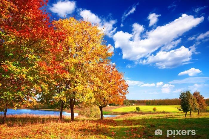 Naklejka Pixerstick Jesienny krajobraz - Pory roku