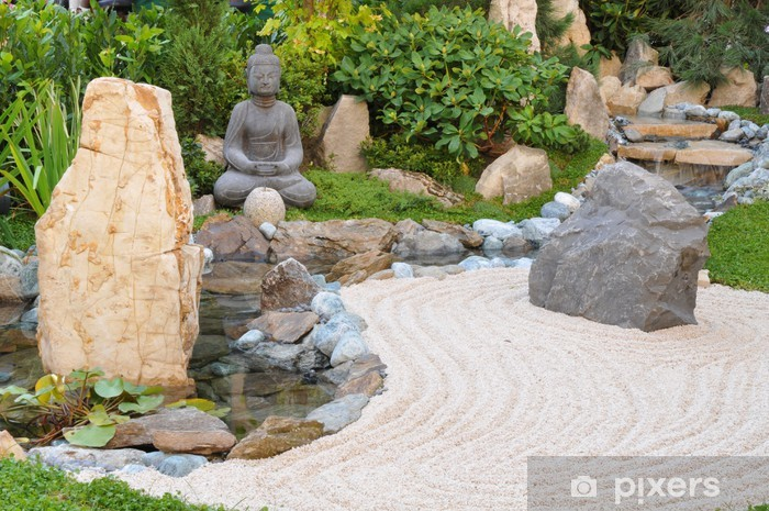 Papier peint Petit jardin japonais • Pixers® - Nous vivons pour changer